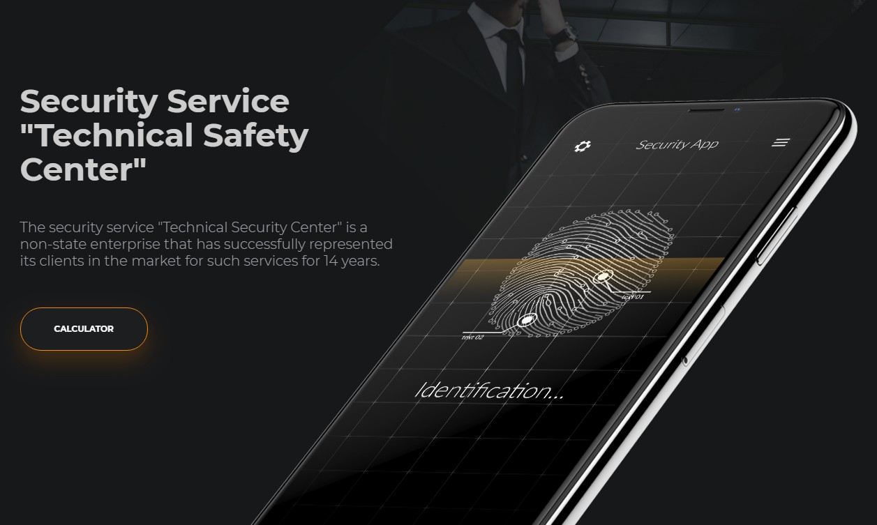 Web for security company